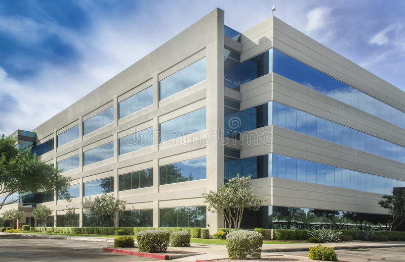 Generic modern office building royalty free stock photos
