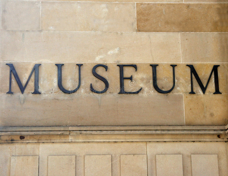 Generic museum sign royalty free stock photo