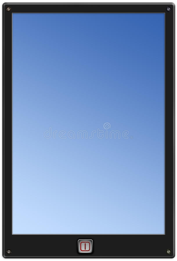 Generic pad tablet template stock illustration