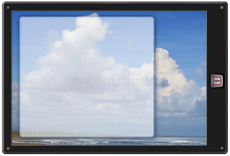 Download Generic Pad Tablet W Background Stock Illustration - Image: 12951649