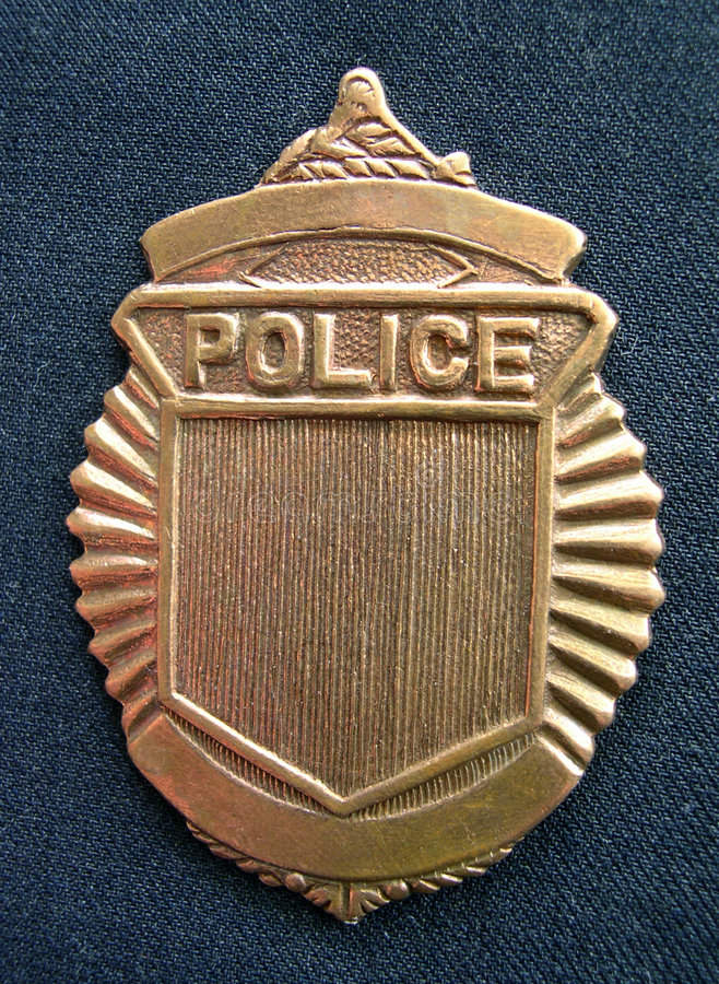 Generic Police Badge stock photography