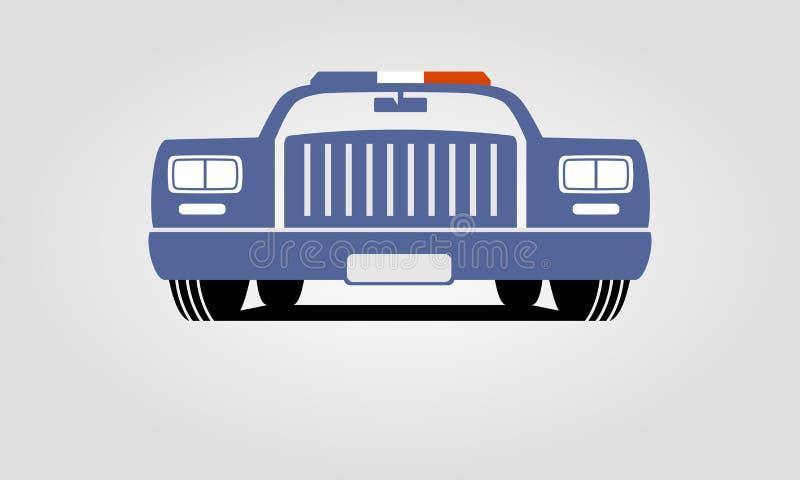 Generic retro police car stock illustration