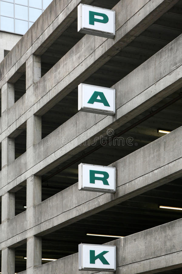 Generic sign on a parking deck