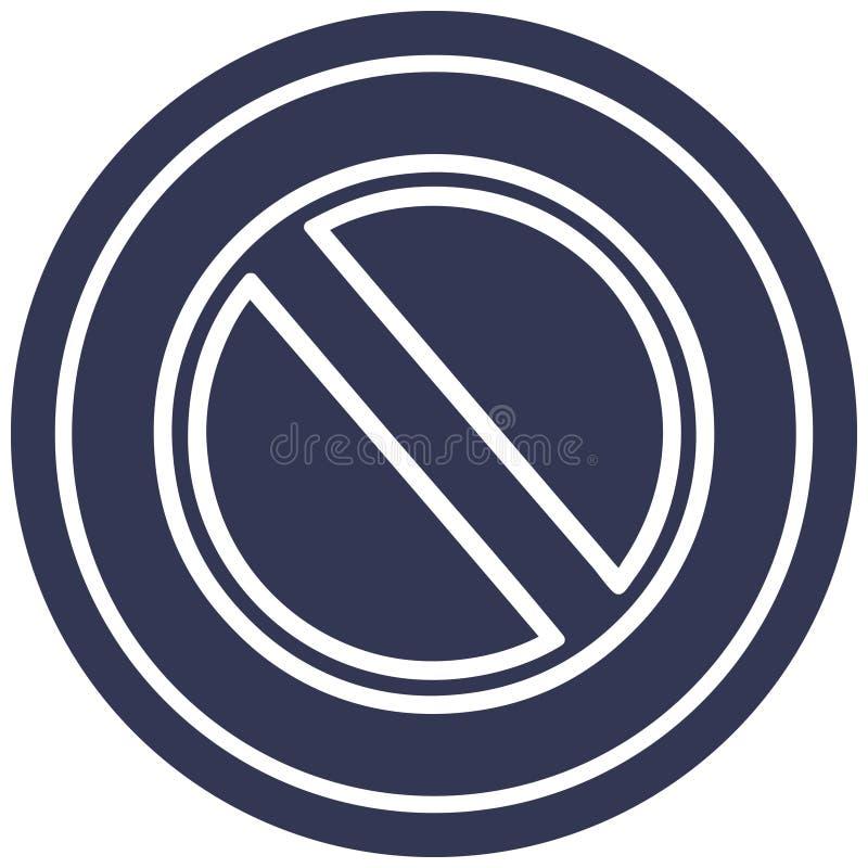 generic stop circular icon royalty free illustration