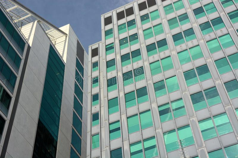 Modern generic office buildings. Generic in style but functional modern office buildings sometimes lack the panache in design that more contemporary royalty free stock image