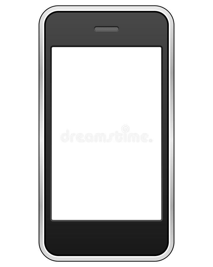 Generic Touch Screen Cell Phone. Isolated on white background. Eps file available