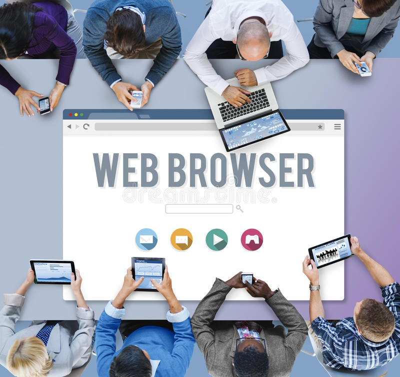 Generic Web Browser Online Page Concept stock photography