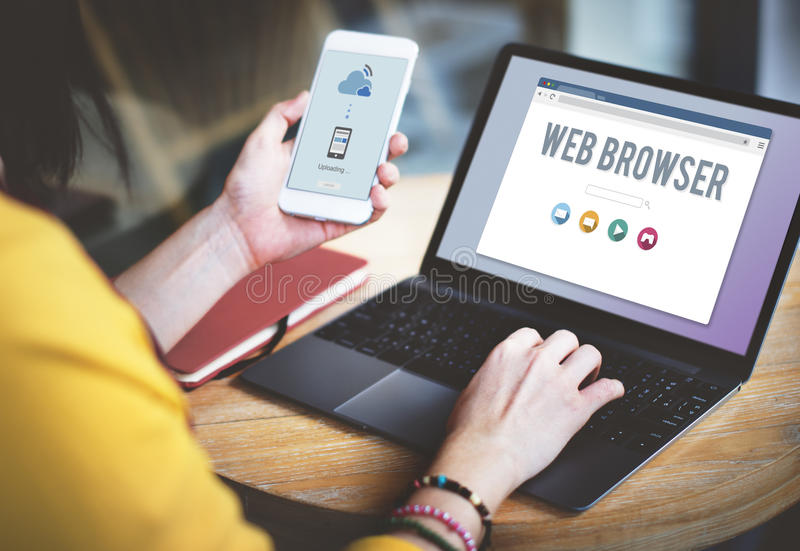 Generic Web Browser Online Page Concept royalty free stock image