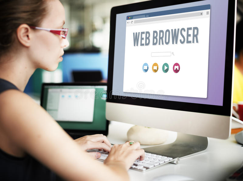 Generic Web Browser Online Page Concept stock photo