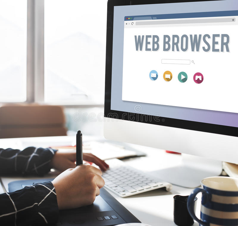 Generic Web Browser Online Page Concept stock image