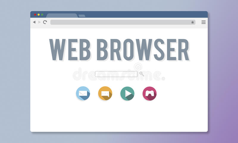 Generic Web Browser Online Page Concept stock illustration