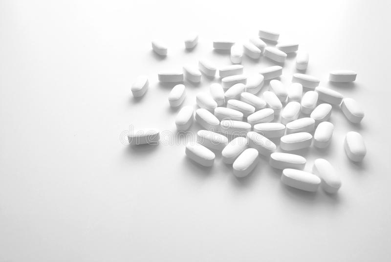 Generic White Tablets stock photo