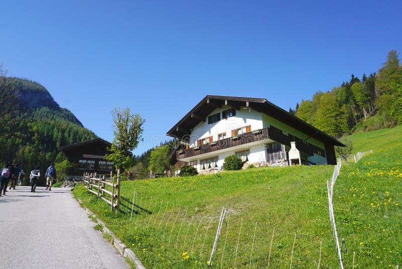 Generisch Beiers huis met groen gazon royalty-vrije stock afbeelding