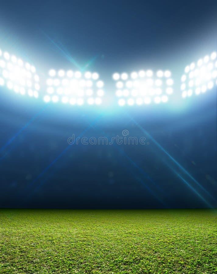 Generisch Met schijnwerpers verlicht Stadion stock fotografie