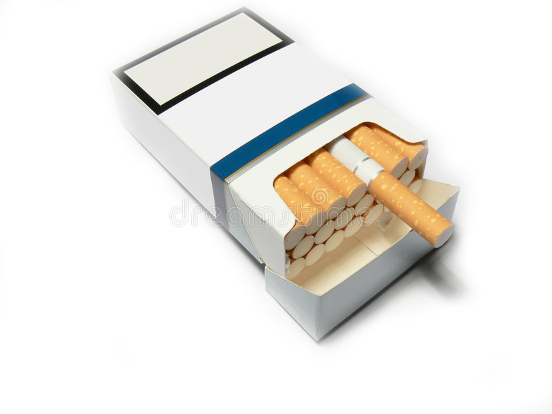 Generisch sigarettenpak stock afbeeldingen