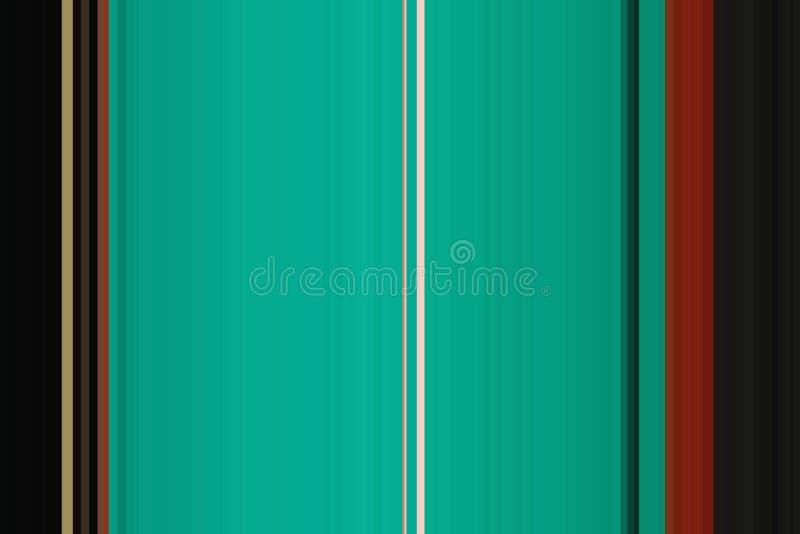 Generisch viridian, groen, kleurrijk naadloos strepenpatroon De abstracte achtergrond van de Illustratie Modieuze moderne tendens royalty-vrije stock afbeelding