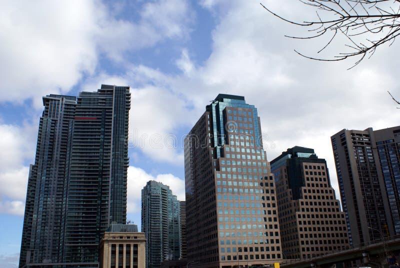 Generische architectuur, horizon, onderaan stad, Toronto, Ontario, Canada stock fotografie