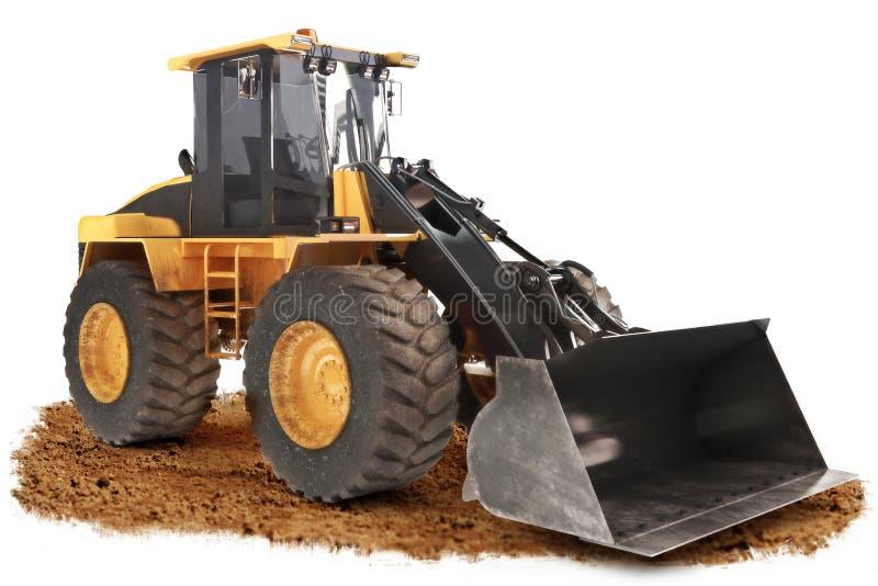 Generische bouwbulldozer stock afbeeldingen