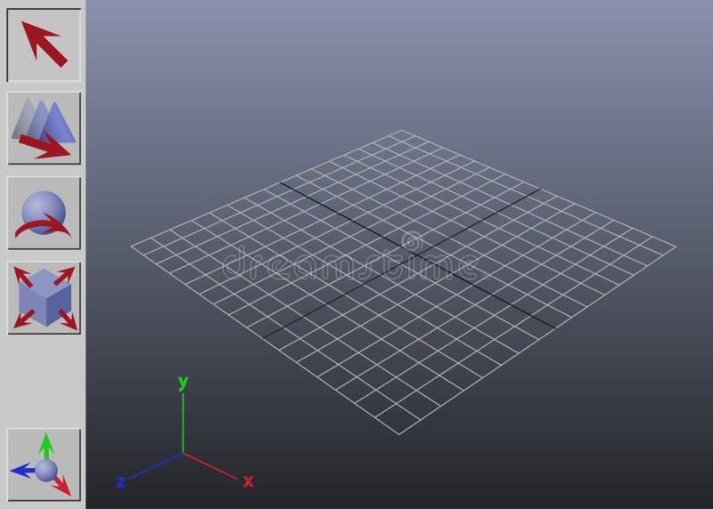Generische 3D toepassingsinterface royalty-vrije stock fotografie