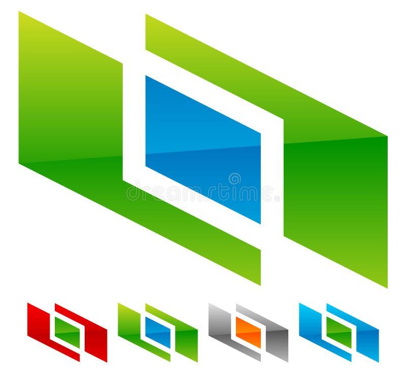 Generische Ikone, Firmenzeichenform für Verbindung, Verknüpfung, strukturell lizenzfreie abbildung