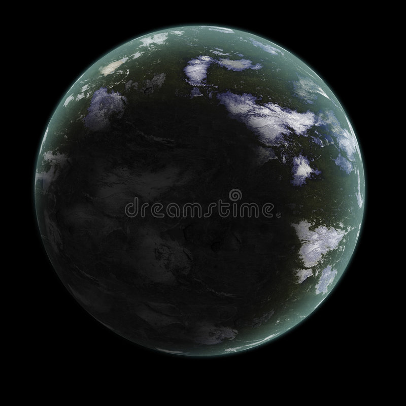 Generische planeet 1 royalty-vrije stock fotografie