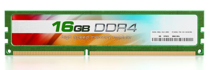 Generische RAM-module stock illustratie