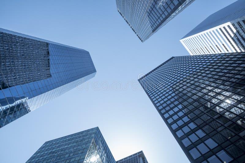 Generische samenvatting van financiële stadswolkenkrabbers royalty-vrije stock fotografie