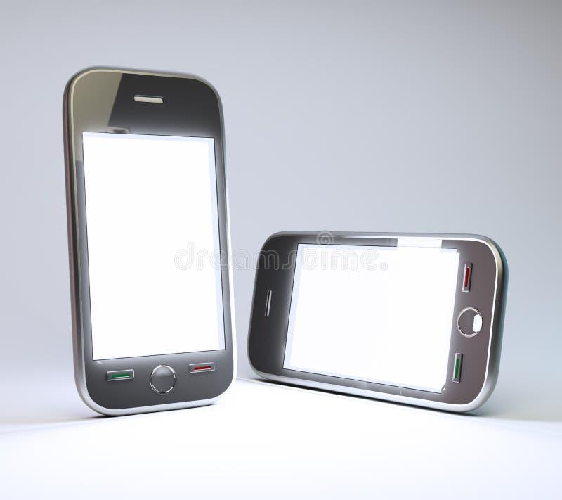 Generische smartphones royalty-vrije illustratie