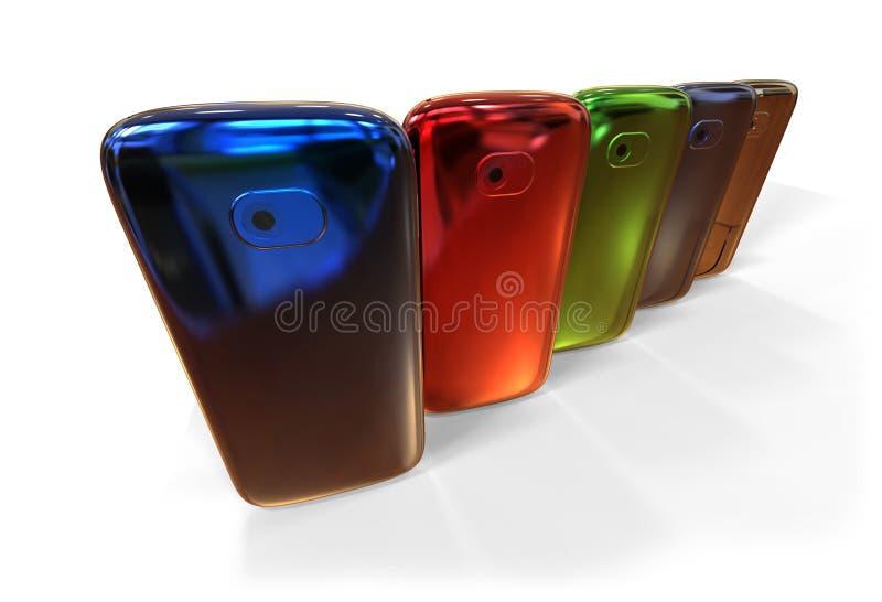 Generische smartphones (met schaduw) stock illustratie