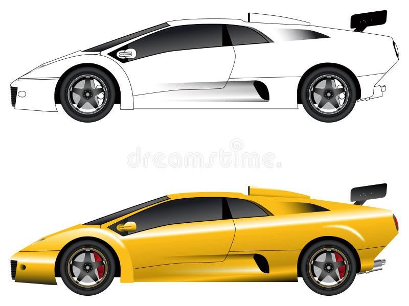 Generische sportwagenvector vector illustratie