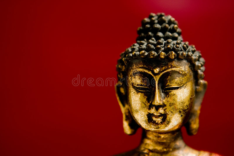 Generische Zenbuddha-Statue stockfotos