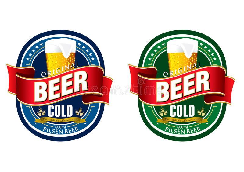Generischer Bierkennsatz stock abbildung