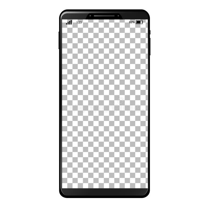 Generisches intelligentes Telefon mit leerem Bildschirm vektor abbildung