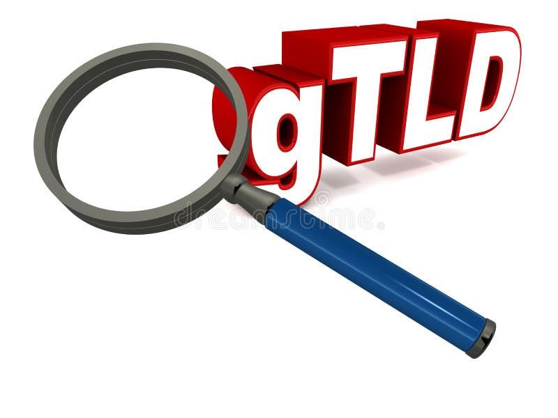 Generisches Top-Level-Domain lizenzfreie abbildung