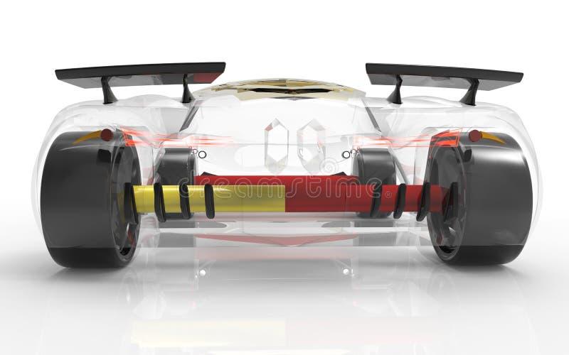Generisches und futuristisches Modell des Autos stock abbildung