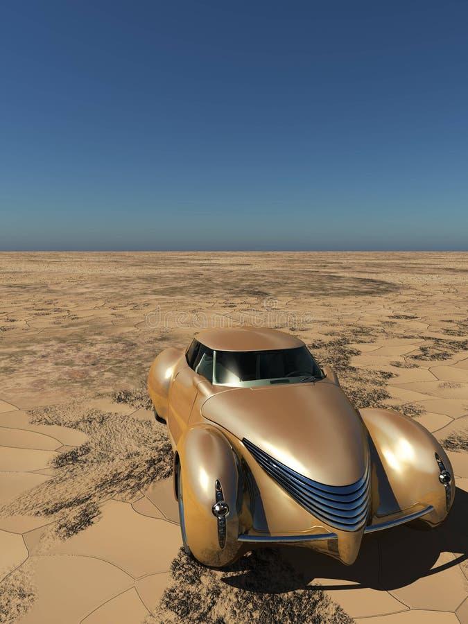 Generisches und futuristisches Modell von Wiedergabe des Autos 3d vektor abbildung