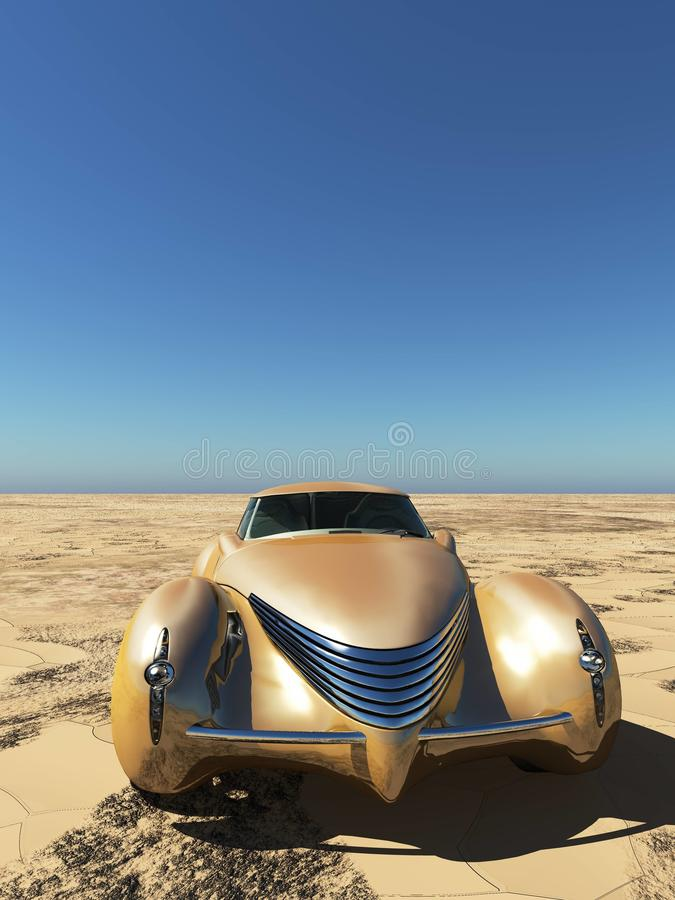 Generisches und futuristisches Modell von Wiedergabe des Autos 3d stock abbildung