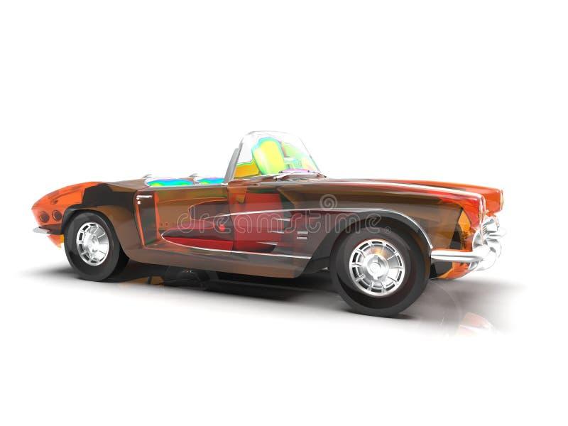 Generisches und futuristisches Modell von Wiedergabe des Autos 3d lizenzfreie abbildung