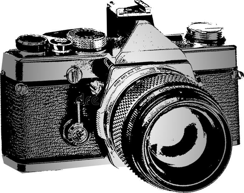 generisk fotoslr för kamera royaltyfri illustrationer
