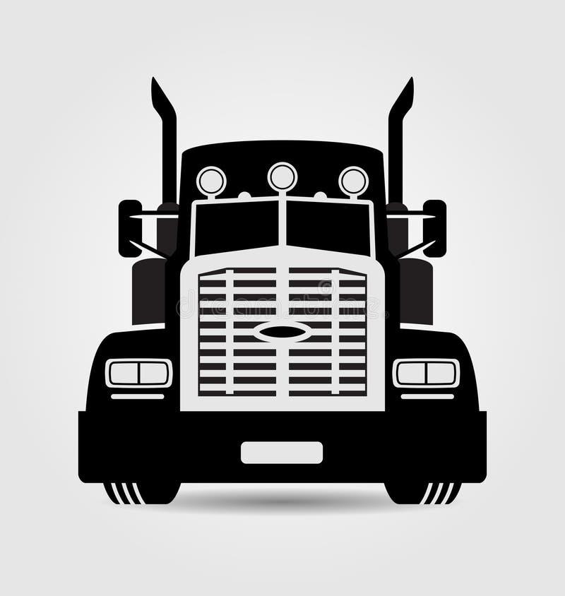 Generisk halv-släp lastbil stock illustrationer