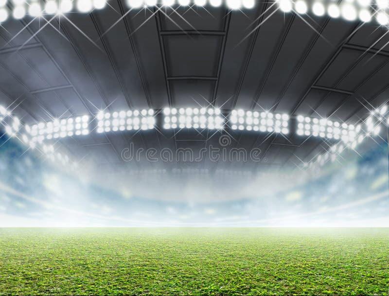 Generisk inomhus stadion royaltyfri illustrationer