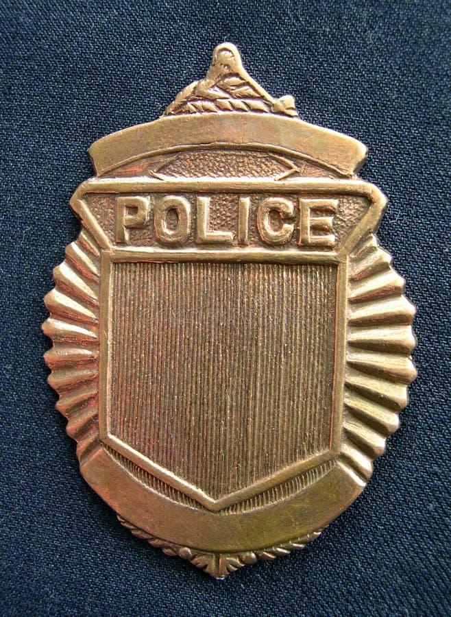 generisk polis för emblem arkivbild
