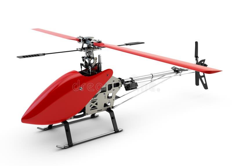 Generisk röd fjärrstyrd helikopter fotografering för bildbyråer