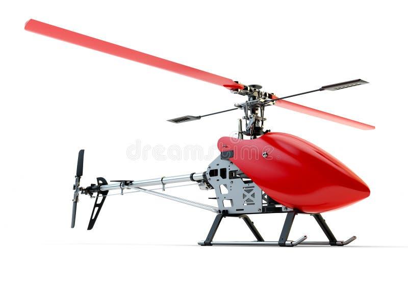 Generisk röd fjärrstyrd helikopter arkivfoton