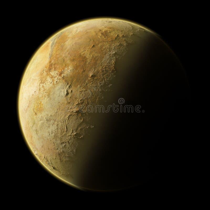 Generisk uppdiktad namnlös planet royaltyfri illustrationer