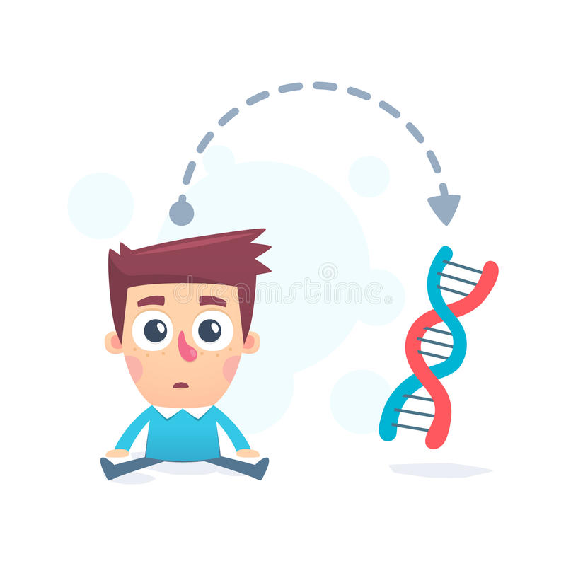 Genes hereditários ilustração do vetor