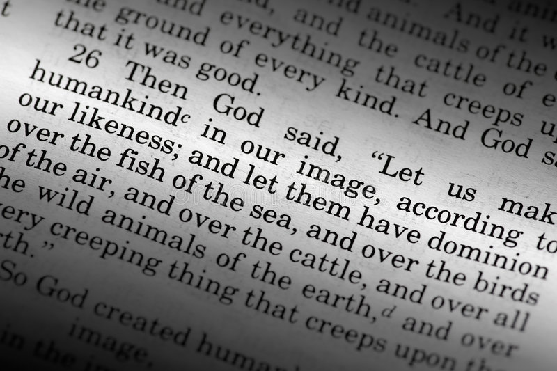 Genesis 1:26 stock photography