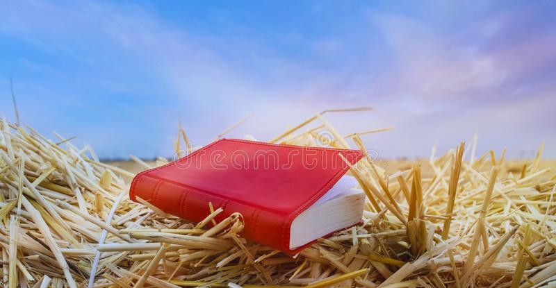Genesis Book and Creation Sky royalty free stock photography