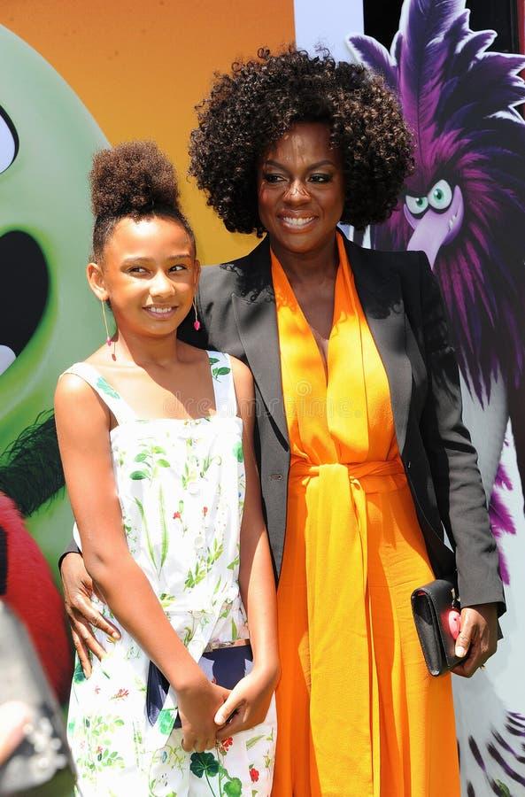 Genesis Tennon and Viola Davis stock photo