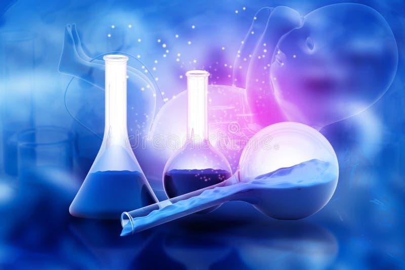 Biochemistry concept stock illustration. Illustration of ...